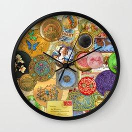 Eau du Powder Puff Wall Clock