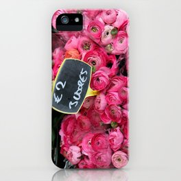 Pink Ranunculus for Sale iPhone Case