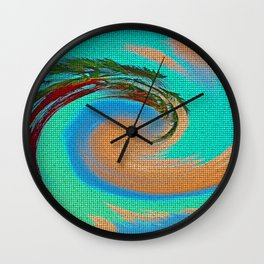 """Tropical Hurricane From A Screen Door"" Print Wall Clock"
