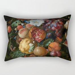Antique Botanical IV [antique painting remixed] Rectangular Pillow