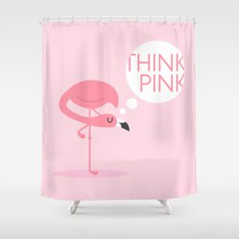 flamingo think pink Shower Curtain