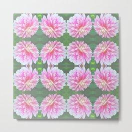 252 - Pink Flower Pattern Metal Print