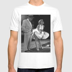 Some Like It Hot MEDIUM White Mens Fitted Tee