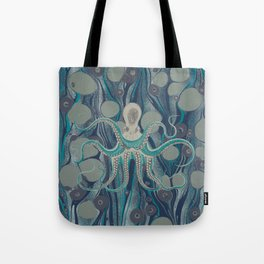 Ocean Vintage Octopus Surf Gold Summer Tote Bag