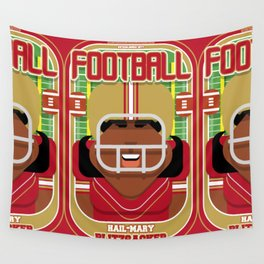 American Football Red and Gold - Hail-Mary Blitzsacker - Aretha version Wall Tapestry