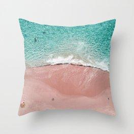 Pink Vacation Throw Pillow