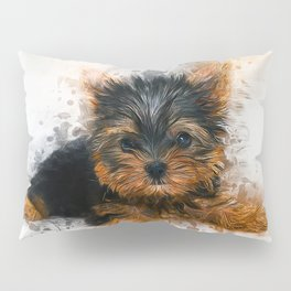 Yorkshire Terrier Puppy Pillow Sham