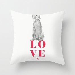 BE MINE VALENWEIM Throw Pillow