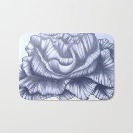 Graphite Abstract Flower Bath Mat
