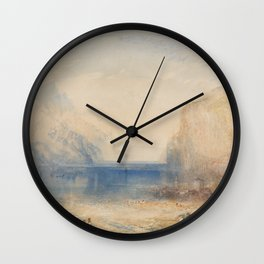 Fluelen, Morning J. M. W. Turner Wall Clock
