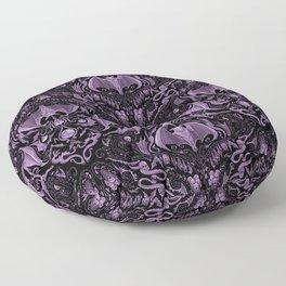 Bats and Beasts (Purple) Floor Pillow