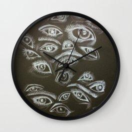 Eyes in the Dark Wall Clock