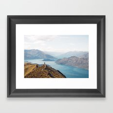 The top of Roys Peak Framed Art Print