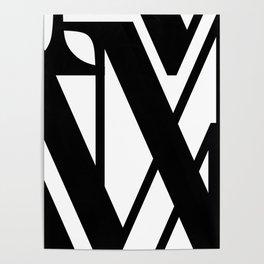 Hidden Letters. Baskerville M Poster
