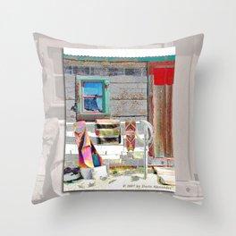 Bunkhouse Window Throw Pillow