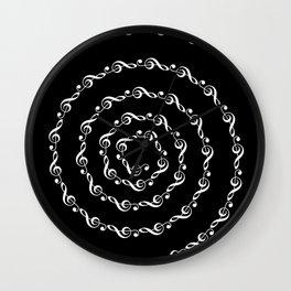 Sol key swirl - inverted Wall Clock
