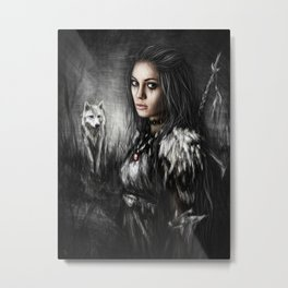 Northern Wolf Metal Print