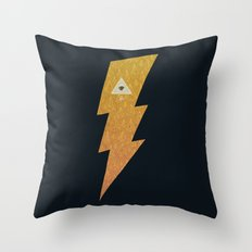Something with lightning and stuff Throw Pillow