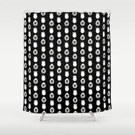 Alien Eggs Pattern Black and White Shower Curtain