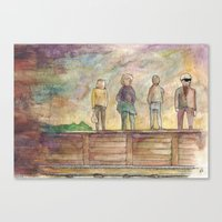 trainspotting Canvas Prints featuring Trainspotting - coffee & watercolour by emmy.