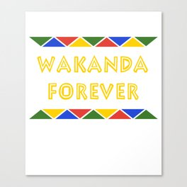 Wakanda T-Shirt Canvas Print