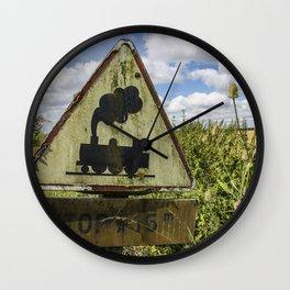 Locomotive breath - Vintage Railway Sign Wall Clock