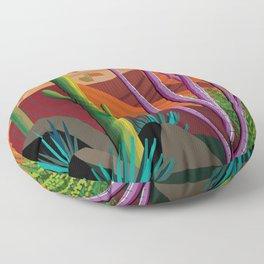 Cactus on Mountaintop Floor Pillow