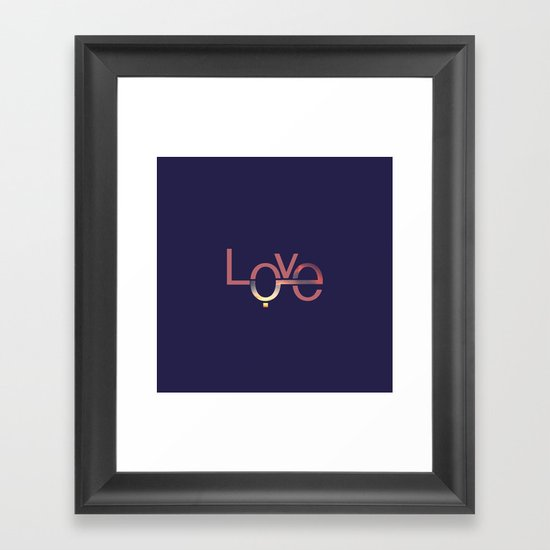 Love in English and Arabic Framed Art Print