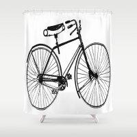 copenhagen Shower Curtains featuring Copenhagen  by PaperandPaintbrush