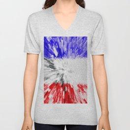 Flag of France Unisex V-Neck