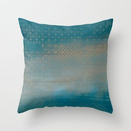 ABUR with Gold on Turquoise Throw Pillow