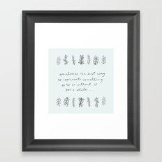 APPRECIATE Framed Art Print