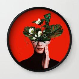 Lady Flowers Xl Wall Clock