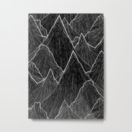 The Dark Peaks Metal Print