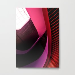 Urban Beauty in Pink Metal Print