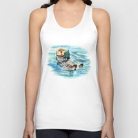 otter Tank Tops featuring Otter by Anna Shell