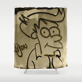 Fry Spray Paint Shower Curtain
