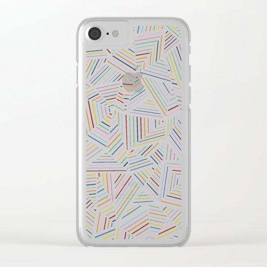 Ab Linear Rainbow Black Clear iPhone Case