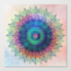 Leaf Mandala Canvas Print
