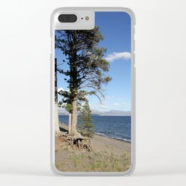 Yellowstone Lake View Clear iPhone Case