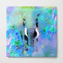 ELEPHANT BLUE Metal Print