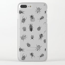 Beautiful Bugs Black Clear iPhone Case