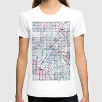 las vegas T-shirts featuring Las Vegas map by MapMapMaps.Watercolors