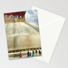 Circumambulating the Stupa Boudha Stationery Cards