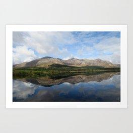 Mirrored Mountain - Ireland Art Print