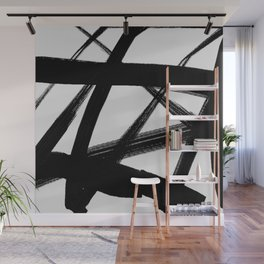 A Shadow Beam - Abstract Paint Wall Mural