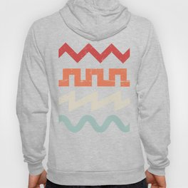 Retro Synth Waveforms Hoody