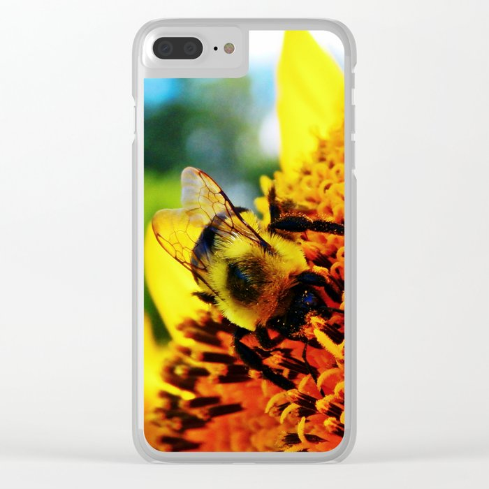 Feasting Bee Clear iPhone Case