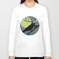 crow Long Sleeve T-shirts featuring Crow by Nir P