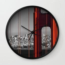 Golden Gate Bridge | Panoramic Downtown View Wall Clock
